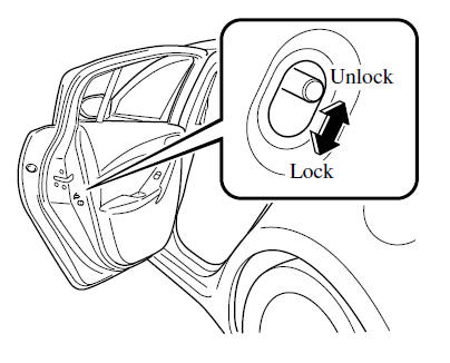 mazda 6 owners manual rear door child safety locks door locks 2014 Mazda 3 White if you slide the child safety lock to the lock position before closing that door the door cannot be opened from the inside the door can only be opened by